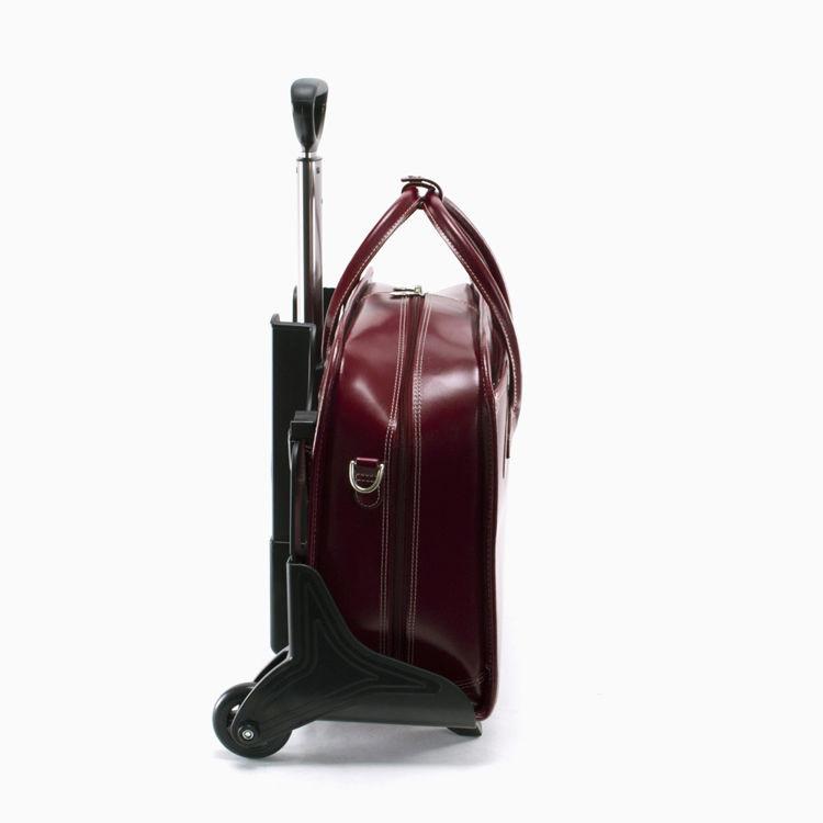 torba skórzana z wózkiem