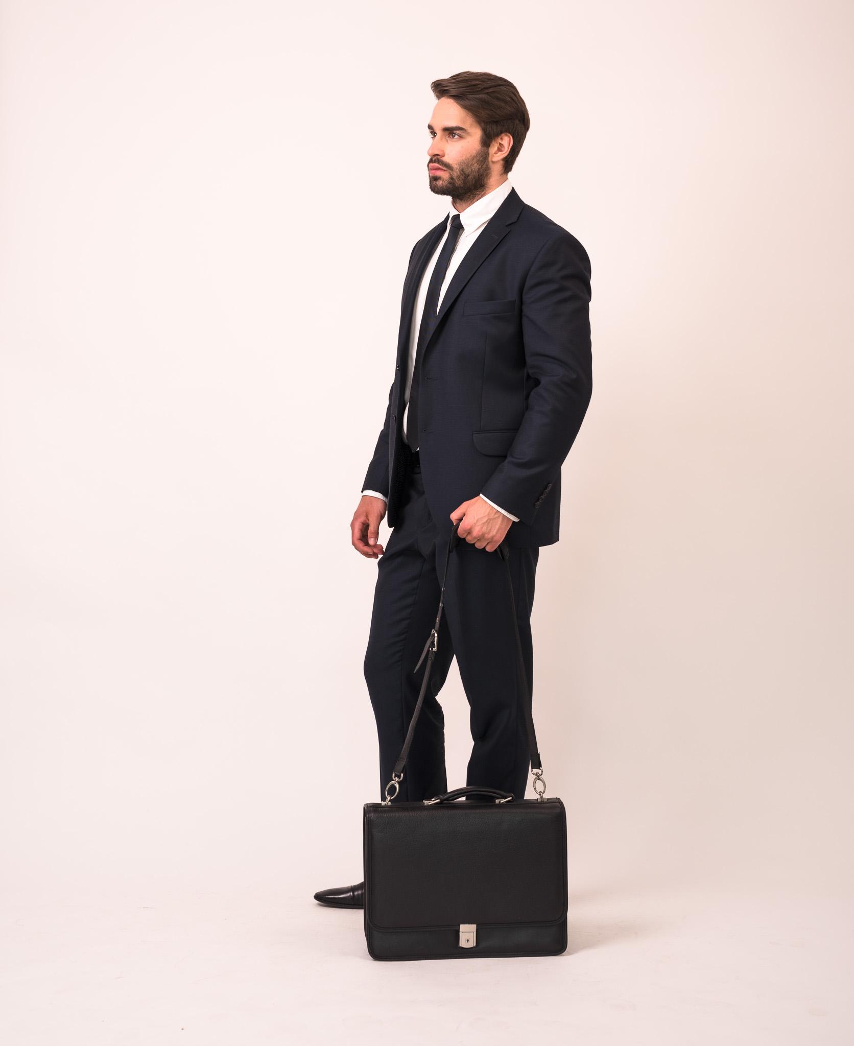 Elegancka czarna męska torba do biura