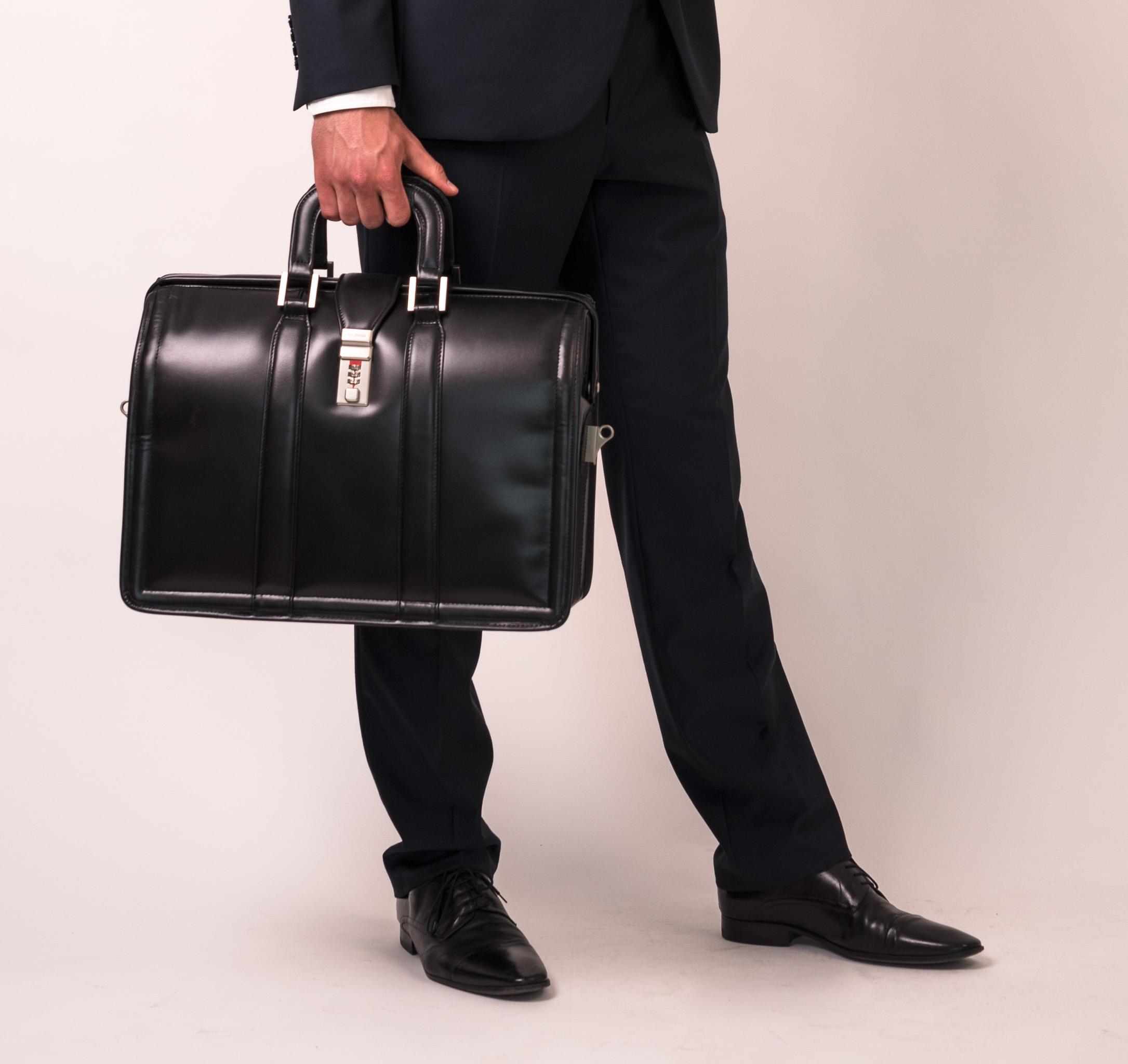 Elegancka teczka skórzana dla prawnika